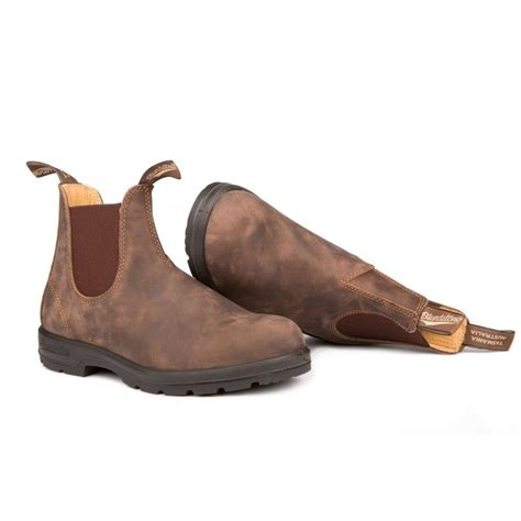 blundstone shoes blundstone blundstone 585 chelsea leather rustic brown