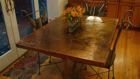 copper top kitchen table imagine copper kitchen table