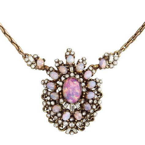 vintage hollycraft opal pendant for sale at 1stdibs
