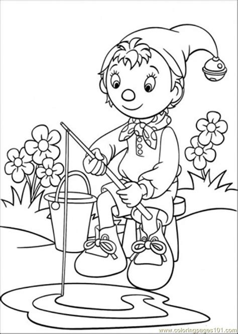 coloring pages noddy is fishing cartoons gt noddy free