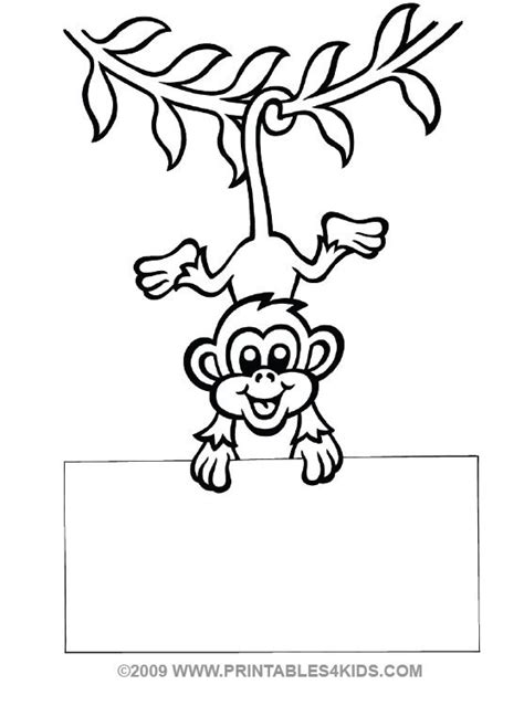 coloring page monkey hanging monkey hanging coloring printables for kids free word