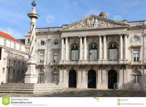 Mediterranean Style House Plans - neo classical facade city hall lisbon portugal stock image image 31432737