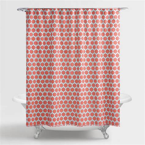 orchid curtains aqua and coral orchid foulard shower curtain world market