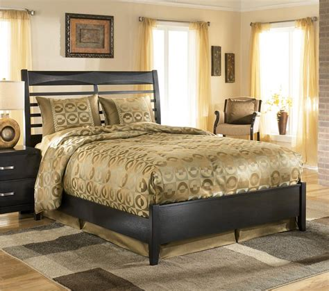 ashley queen bed ashley furniture kira queen panel bed dunk bright