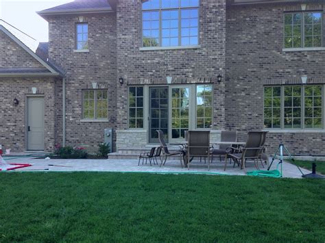 patio paver blocks hardscape installation in northbrook landscaping and