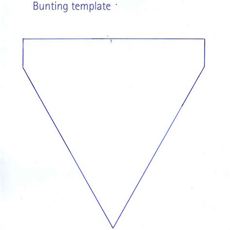 bunting template my home