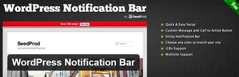 top bar wordpress plugin 3 best notification bar wordpress plugin of 2017 modern
