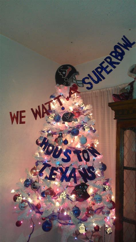 houston texans christmas tree pretty sure my hubby would