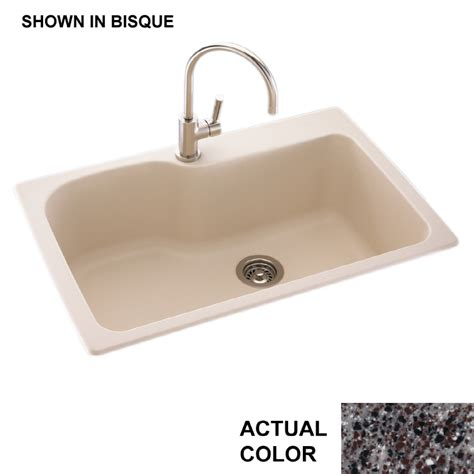 Single Basin Kitchen Sink Shop Swanstone Single Basin Drop In Or Undermount Composite Kitchen Sink At Lowes