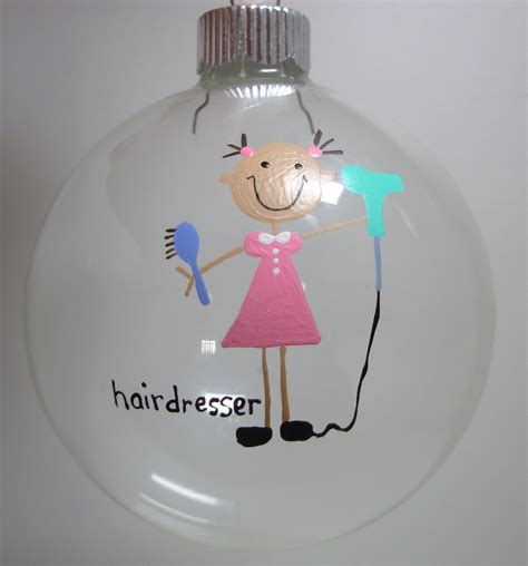 hairdresser christmas ornament handpainted ornament