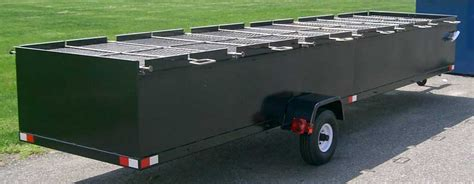 chicken bbq pit trailer custom bbq trailers meadow creek bbq cookers
