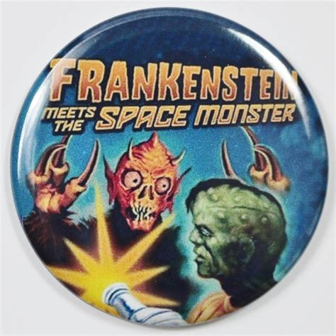 frankenstein meets  space monster  poster fridge
