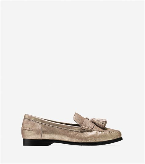 tassel loafer lyst cole haan s pinch grand tassel loafer in metallic