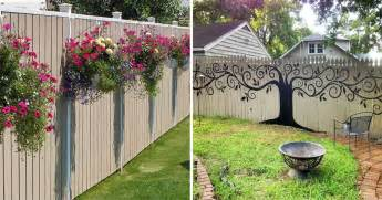 Backyard Wall Decorating Ideas 15 People Who Took Their Backyard Fences To Another Level