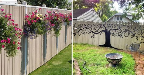 Backyard Wall Decorating Ideas 55 Who Took Their Backyard Fences To Another Level