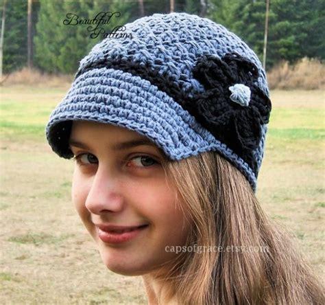 crochet hat pattern womens crochet hat visor beanie visor hat