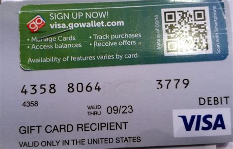 Www Visa Gift Card - card number on visa gift card bing images