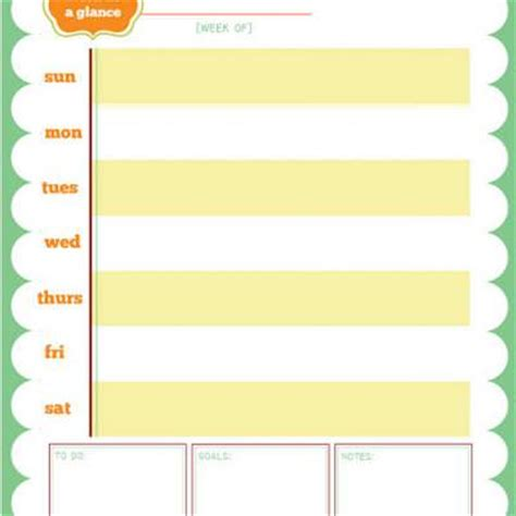 week at a glance calendar template printable week at a glance calendar printable calendar