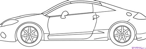 draw a car how to draw car side view