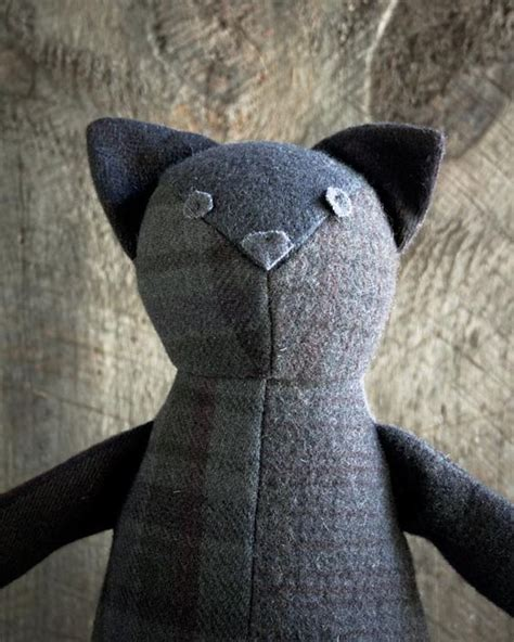 Patchwork Cat Pattern - diy wool patchwork cat free sewing pattern and step by