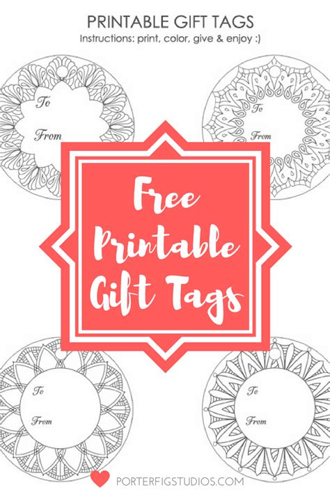 printable holiday gift tags to color free printable christmas holiday gift tags coloring page