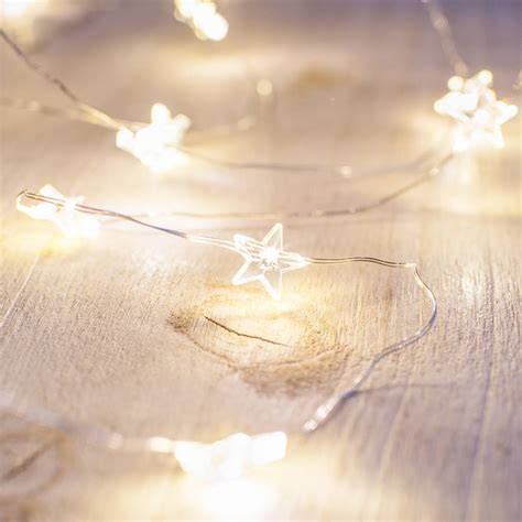 warm white fairy lights warm white star micro fairy lights by lights4fun