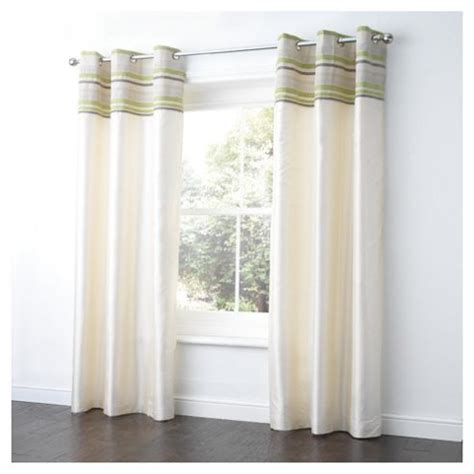 tesco eyelet curtains buy tesco chenille stripe lined eyelet curtains
