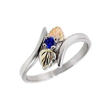 black gold silver ring black gold sterling silver blue sapphire ring