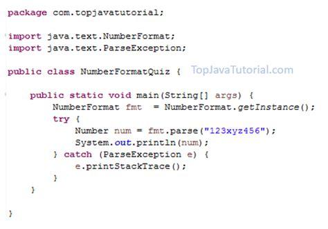 tutorial on xml parsing in java java quiz on parsing string to number top java tutorial