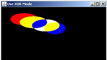 graphics in java swing show xor mode