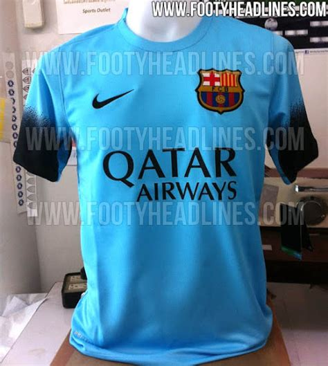 Barcelona 3rd 201516 Black Leaked leaked barcelona s light blue 2015 16 third kit