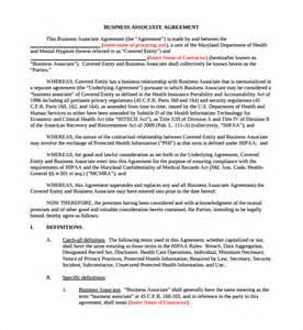 Business Associate Agreement Template 2013 doc 728942 business associate agreement template