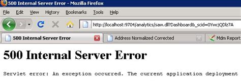 internal server error oc4j 500 internal server error obiee gerardnico
