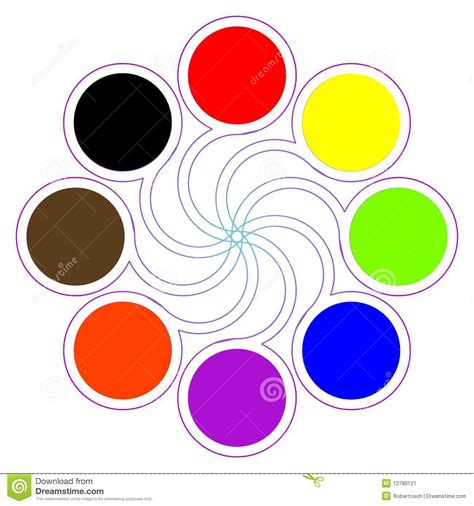 8 basic colors color palette with eight basic colors stock vector