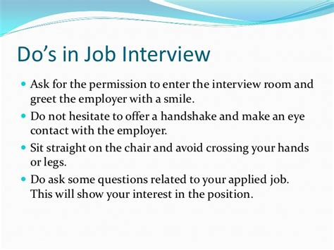 10 tips to become a successful interviewer do s and don ts