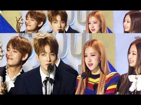 blackpink vs bts seoul music awards 2017 bts blackpink jungkook rose v