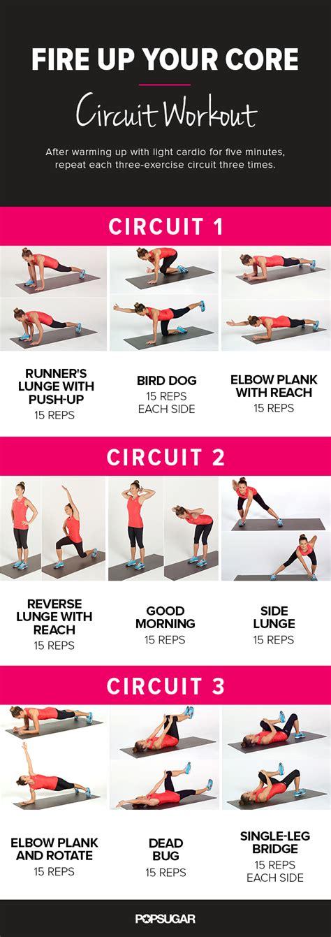 printable workout popsugar fitness