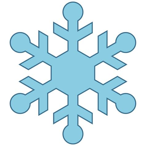 Find Flake Free by Simple Snowflakes Clipart Best