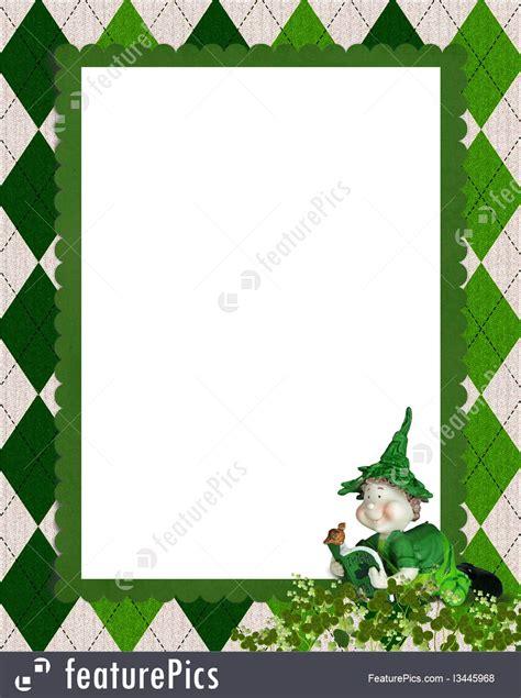 day frames leprechaun in st s day frame illustration