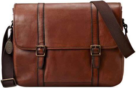 Fossil Perry East West Messenger Bag by Fossil Estate East West Messenger Bag In Brown For