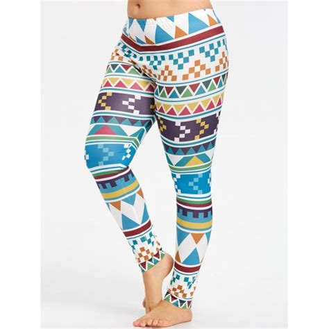 patterned yoga pants plus size plus size geometric pattern yoga leggings in colorful 4xl