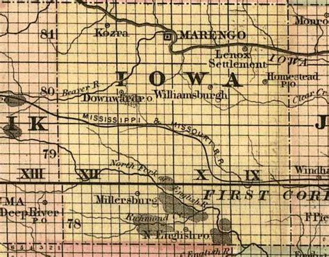Records Iowa Iowa County Iagenweb Records Maps Iowa County Maps 1850 1897