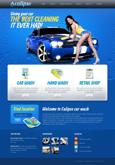 motor website car wash website template 40106