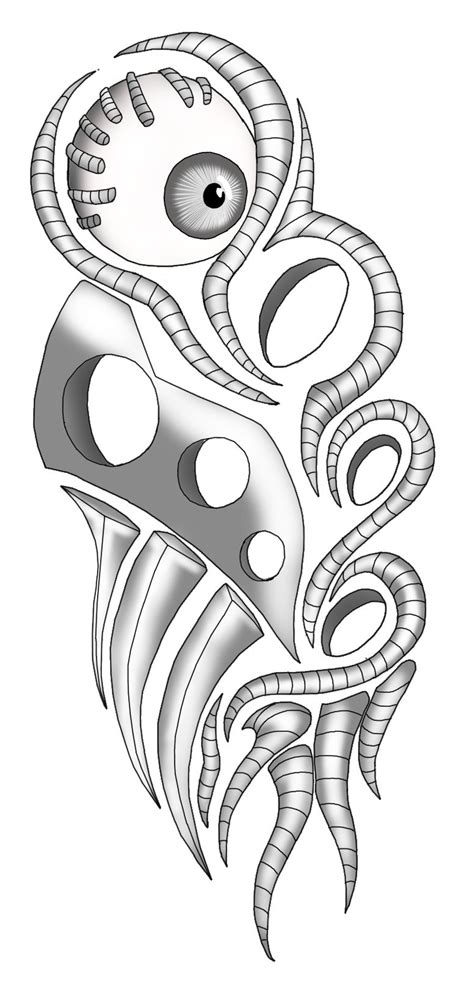 tribal biomechanical tattoo designs biomechanical by lynamachine on deviantart