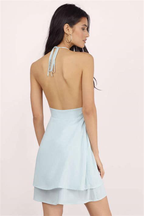 light blue babydoll dress trendy light blue skater dress halter dress 13 00