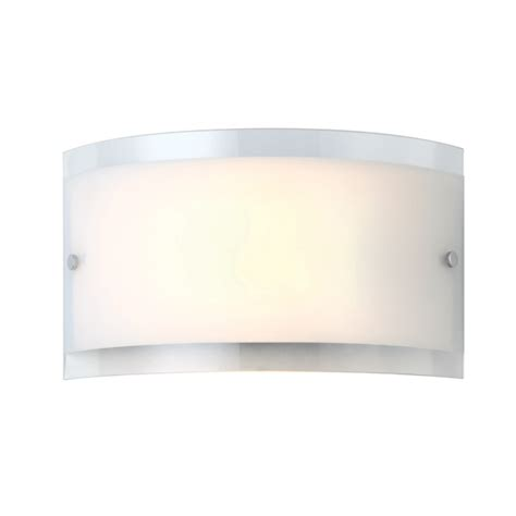 Flat Wall Sconce Canarm Logan Iwl228b01ch 1 Lt Wall Sconce Flat Opal Glass With Clear 100w Type A Easy