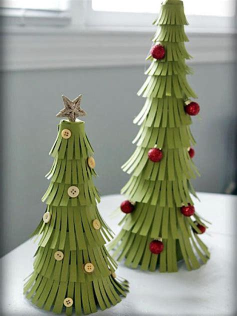 hand made christmas out of paper pretty paper trees hgtv