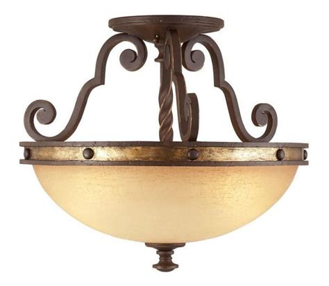 semi flush ceiling fan kalco lighting durango semi flush ceiling light rustic
