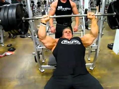 Jay Cutler 405lbs Incline Bench Press Youtube