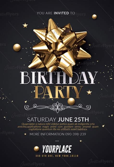 Birthday Party Flyer Psd Download Creative Flyers Birthday Flyer Template